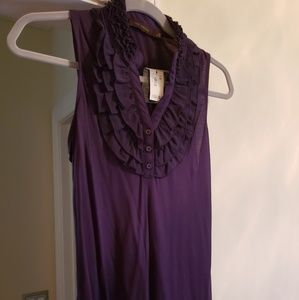 NWT The Limited ruffle neck sleeveless top